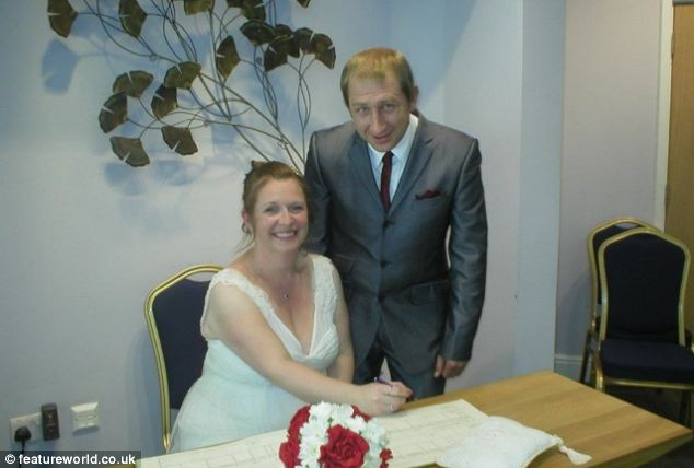 White wedding: Trevor and Victoria on their wedding day. Victoria is now helping Treva to live as a woman