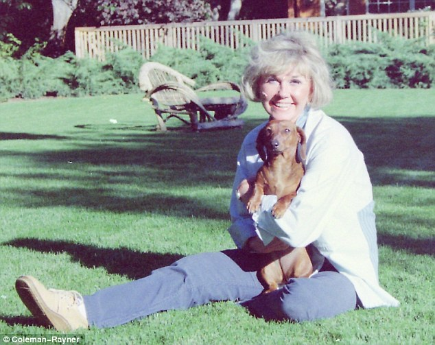 At her happiest: After leaving Hollywood in 1968 for an 11-acre estate in Carmel, Doris Day devoted herself to her beloved pets and became an ardent animal campaigner