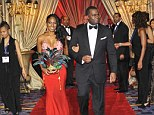Loved up: Atlanta mayor Kasim Reed and former beauty queen Sarah-Elizabeth Langford have revealed they're engaged, just three months after making a splash at the 30th Annual UNCF Mayor's Masked Ball at the Marriott Marquis in Atlanta (pictured)