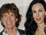 Lovers: Sir Mick Jagger and L'Wren Scott were lovers for 13 years