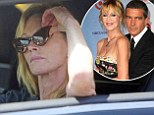 Pictured: Melanie Griffith in pensive mood as she's seen for first time since Antonio Banderas split