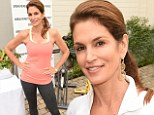 Fab at 48! Cindy Crawford served as her own best advertisement as she promoted Urban Remedy, the organization devoted to healthy eating that she is helping to spearhead