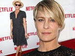 Her slim secret: Robin Wright told People that she wears Spanx to 'hold the bakery in'