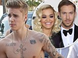 'They got touchy feely with each other': Justin Bieber getting 'affectionate' with Rita Ora reportedly to blame for her split with Calvin Harris