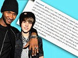 'He was a naive child': Usher speaks out about protege Justin Bieber's N-word video... and declares him 'not a racist'