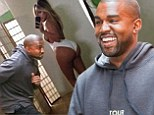 He DOES have a sense of humour! Kanye West pokes fun at himself in meme of Kim Kardashian's infamous swimsuit selfie