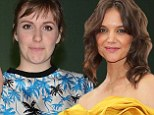 Girls night out? Katie Holmes and Lena Dunham spark speculation of a project together as they are spotted having dinner in New York