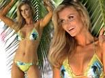 Miami heat! Joanna Krupa sizzles as she shows off stunning figure in tropical-themed bikini shoot