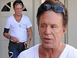 In fighting shape! Mickey Rourke looks lean and mean in a tight T-shirt as he runs errands in Beverly Hills