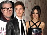 Defensive: Benedict Cumberbatch reportedly punched a film critic for criticism of his pal Keira Knightley