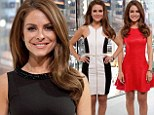 Slimline Maria Menounos sports three clinging dresses in one day while hosting Extra