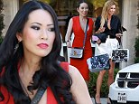 EXCLUSIVE PHOTOS - New kid on the block! Brandi Glanville films scenes with RHOBH newcomer Christine Chiu following season five cast shake-up