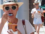 She deserves it! Diane Kruger treated herself to some ice cream as she showed off her toned legs in Beverly Hills, California on Friday