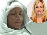 Camille Grammer posts hospital photo following hysterectomy operation... as ex-boyfriend Dimitri Charalambopoulos sues her for 'fabricating' assault claim