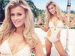 Joanna Krupa leaves little to the imagination in racy cut-out swimsuit as she poses on a rooftop in Miami