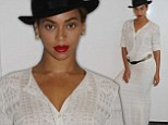 She's got the Bohemian edge! Beyonce inspires in lacy long white dress and hat in glamourous new snaps