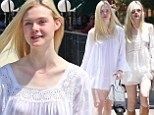 Found your signature style? Elle Fanning steps out in second white peasant dress in six days