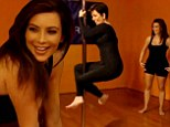 Keeping Upside Down with the Kardashians? Kris Jenner, 58, shows daughter Kim, 33, how to pole dance