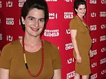 Girls star Gaby Hoffmann pregnant with her first baby and showing a bump at screening for her new film Obvious Child