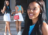 Angela Simmons displays toned physique in sexy summery outfit as she hints at new venture following power lunch with her 'fitness gurus'