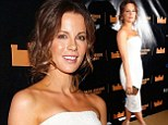 Kate Beckinsale steals the show in a clinging strapless white dress at Macbeth opening night bash