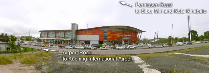 Kuching Sentral is strategically located at the junction of Jalan Penrissen and Airport Road which is being upgraded to a dual-carriageway with traffic lights.