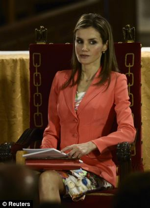 Felipe's wife Princess Letizia, a former television journalist, also attended the event