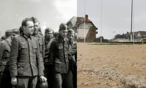 D-day landings scenes in 1944 and now – interactive