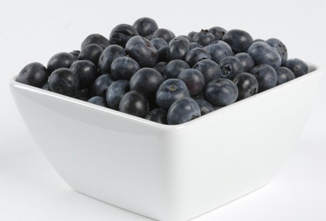 fiber in blueberries