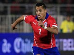 Danger man: Alexis Sanchez will be one of Chile's main creative influences