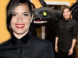 She's no Ugly Betty! America Ferrera shines in the simplest of all-black ensembles