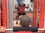 Hard at work: Theo Walcott has been stepping up his recovery from the knee injury which has kept him out of England's World Cup squad this summer