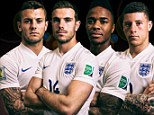 Jack Wilshere of England poses during the official FIFA World Cup 2014 portrait session