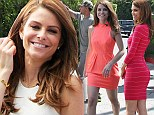 Her own best advert! Maria Menounos showcases her svelte figure in SIX dresses as she promotes new diet book on Extra