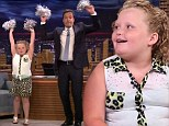What can't she do? Honey Boo shows off her cheerleading skills alongside Jimmy Fallon for Tonight Show