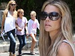 Trading places! Denise Richards takes children house hunting in Beverly Hills after Charlie Sheen 'sells home from under her'