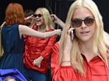 Bosom buddies! Jaime King hugs model pal Karen Elson after sharing intimate photo breastfeeding her son