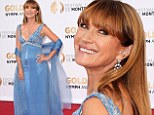 Stunning in her Sixties! Jane Seymour dazzles in sleeveless blue gown as she attends Monte Carlo TV Closing Ceremony