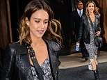A day out: Jessica Alba, who returns to Sin City to play Nancy in the upcoming sequel A Dame to Kill For, wore her hair loose for the day