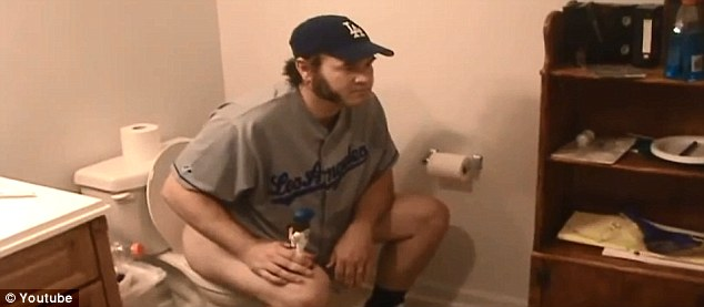 Best friends: Sexton says his Joe Beimel bobblehead doll is his bestfried. They apparently use the bathroom together