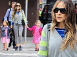 Sarah Jessica Parker, the 49-year-old actress and mom-of-three, was seen with her five-year-old twin girls out for a stroll around New York City on Thursday