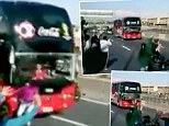 Kamikaze: The Chile team bus had to slam on the breaks to avoid hitting a fan who ran onto the road