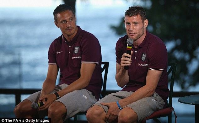 Go to jail! Milner (right) admitted he and Jagielka pass time by playing Monopoly