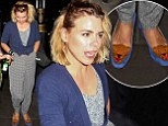 A walk on the wild side! Billie Piper sports tiger slippers on night out... and gets kissed by random homeless man