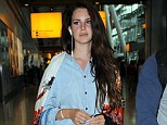 Worries: Lana Del Rey, pictured on Thursday,  gave an interview where she said she wishes she was dead