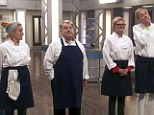 Too many cooks...: Sophie Thompson, Russell Grant, Susannah Constantine and Jodie Kidd took part in Thursday night's episode of Celebrity Masterchef