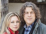 Losing the magic: Alan Davies with Jonathan Creek co-star Sarah Alexander. The show returned for a three-parter earlier this year