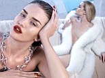 Rosie Huntington-Whiteley displays her flawless figure as she strips naked for sizzling photo shoot