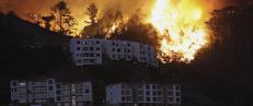 Flykter fra flammene på ferieøya