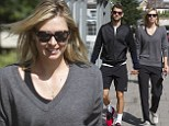 Stealing a moment! Maria Sharapova spends quality time with beau Grigor Dimitrov while keeping trim figure hidden in grey jumper and trousers